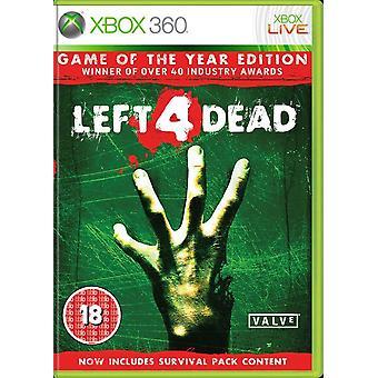 لعبة بقي 4 الميت للعبة Xbox 360 طبعة السنة