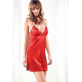 Red night dress silk · · · Parah · Rosso