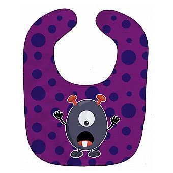 キャロラインズ宝物 BB7002BIB リトル モンスター ブドウ ・ ゴルド赤ちゃんよだれかけ