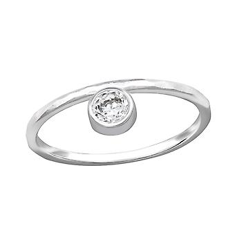 Round - 925 Sterling Silver Jewelled Rings - W32343x