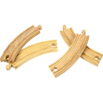 Courbes Long Wooden Railway Bigjigs x 4