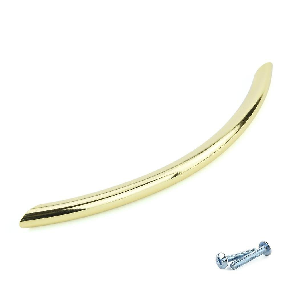 M4TEC Bow Kitchen Cabinet Door Handles Cupboards Drawers Bedroom Furniture Pull Handle Polished Brass. O5 series