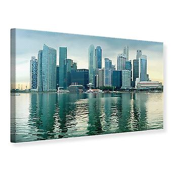 Canvas Print Skyline Sunrise in Singapore