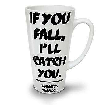Fall Catch Floor Funny NEW White Tea Coffee Ceramic Latte Mug 17 oz | Wellcoda