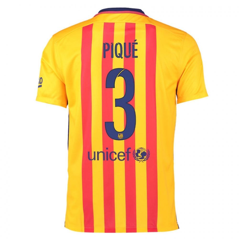 2015-16 Barcelona Away Shirt (Pique 3) - Kids