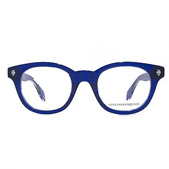 Alexander McQueen Ghost Skull AM0027 Glasses In Blue