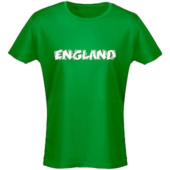 England Funky Font Football Womens T-Shirt 8 Colours (8-20) by swagwear