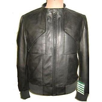 Heren New Yorker Leather Jacket zwart