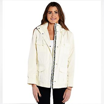 Alia Women's Raincoat In Off White