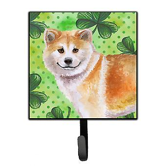 Carolines Treasures  BB9852SH4 Shiba Inu St Patrick's Leash or Key Holder
