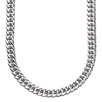 Iced out stainless steel MIAMI curb chain - 6 mm silver
