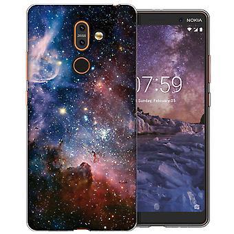 Nokia 7 pluss blå Constellation TPU Gel saken