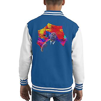 Alfred Hitchcock Kaleidoscope Umbrella 1975 Kid's Varsity Jacket