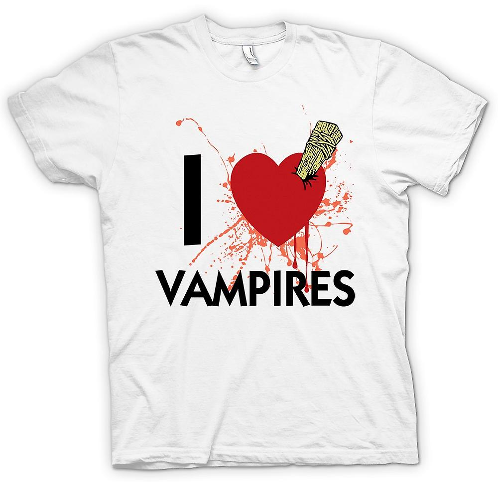 Womens T-shirt - I Love Vampires - Funny