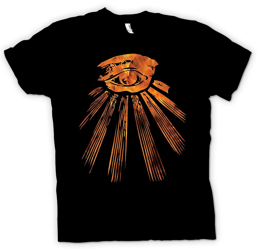 Womens T-shirt-Illuminati All Seeing Eye