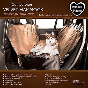 VALENTINA VALENTTI LUXE WATERPROOF PET DOG CAR SEAT COVER PROTECTIVE HAMMOCK