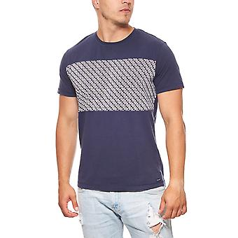 Wrangler T-Shirt men's short-sleeved mod graphic Blau