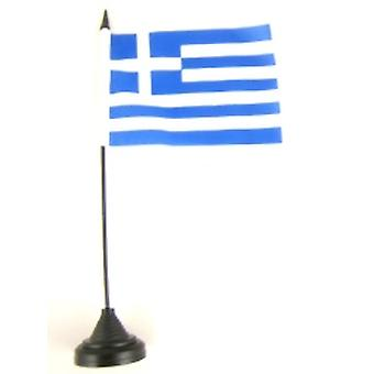 Greece Table Flag with Stick and Base