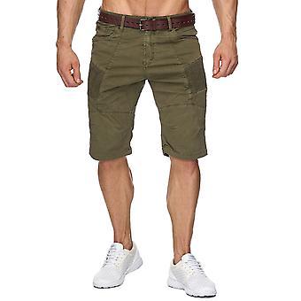 Motorista de pantalones cortos de los hombres Bermudas Chino Cuba shorts con cinturón azul pantalones cargo