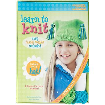 Learn To Knit Kit-Hat