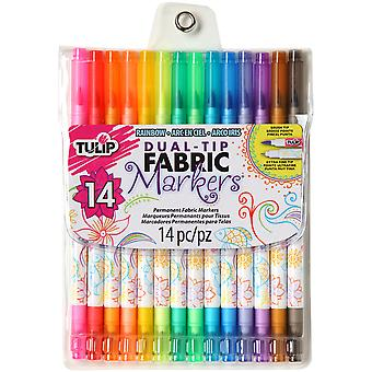 Tulip Dual Tip Fabric Marker Set 14Pc-Assorted Colors