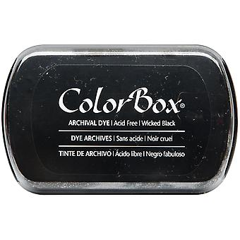 ColorBox Archival Dye Ink Pad-Wicked Black