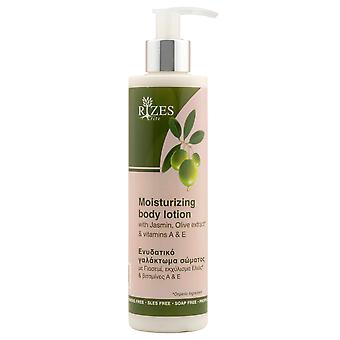 Moisturizing body lotion with Jasmin, olive extract and Vitamins A and E