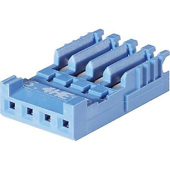 TE Connectivity Socket enclosure - cable AMPMODU HE14 Total number of pins 6 Contact spacing: 2.54 mm 281786-6 1 pc(s)