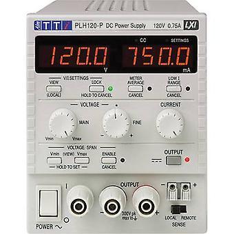 Aim TTi PLH120-P Bench PSU (adjustable voltage) 0 - 120 V 0 - 0.75 A 90 W No. of outputs 1 x
