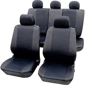 Petex 26174802 Sydney Seat covers 11-piece Polyester Graphite Drivers seat, Passenger seat, Back seat