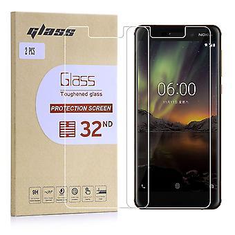 Ekstra pansrede hærdet glas til Nokia 6 (2018)-2-Pak