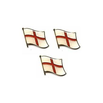 Union Jack Wear England St George Cross Wave Pin Badge
