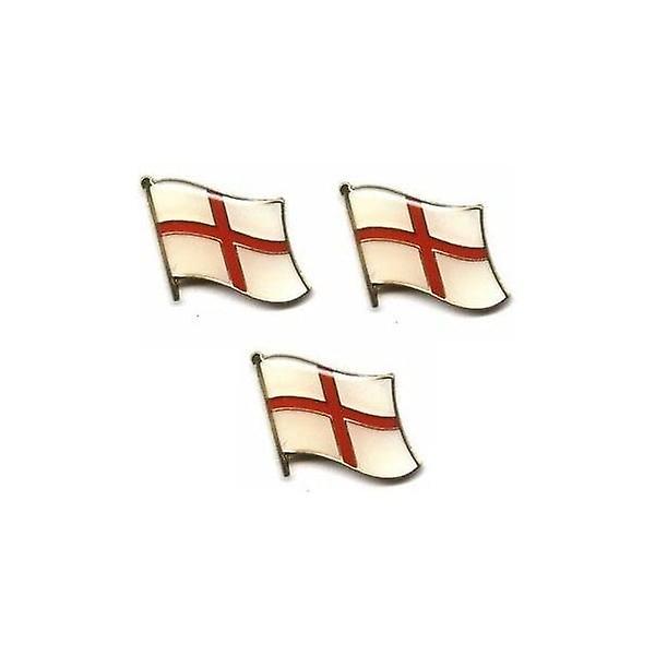 Union Jack Wear England St George Cross Wave Pin Badge