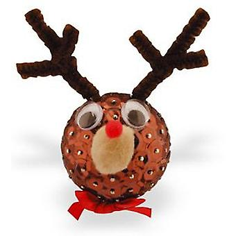 Pinflair Sequin & Pin Rudolph Reindeer Christmas Baubles - Makes 20