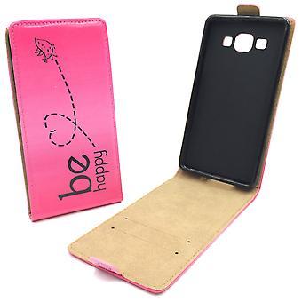 Handyhülle Tasche für Handy Samsung Galaxy A5 Be Happy Pink
