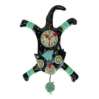Allen Designs Craft Attack Cat Pendulum Wall Clock