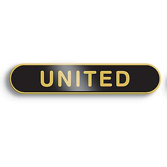 Sort United emalje Bar Badge - Old School stil!