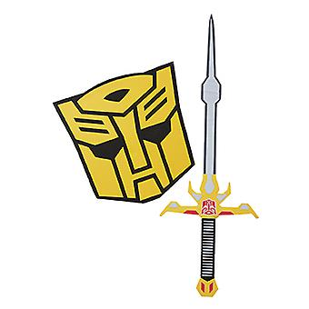 Bumblebee costume set sword and shield for children