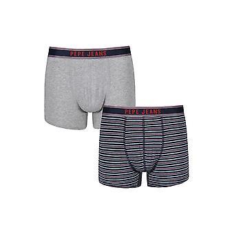 New Designer Mens Pepe Jeans Boxer Trunk Shorts York Gift Set