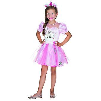Vestido de Theodor Deluxe niños traje de princesa de hadas de carnaval unicornio rosa