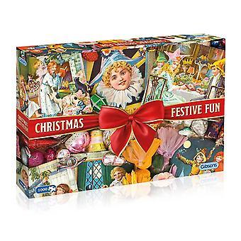 ギブソン クリスマスお祭り楽しいジグソー パズル (1000 ピース)