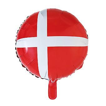Folieballong Deense vlag Dannebrog