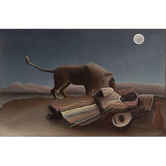 The Sleeping Gypsy,Henri Rousseau,60x40cm