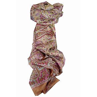 Шелковица шелка традиционный длинный шарф Кирин золото пашмины & шелка