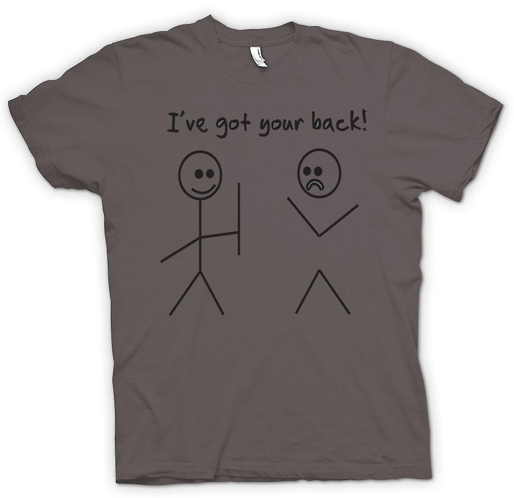 Femmes T-shirt - Stickmen, Ive Got Your Back - Quote
