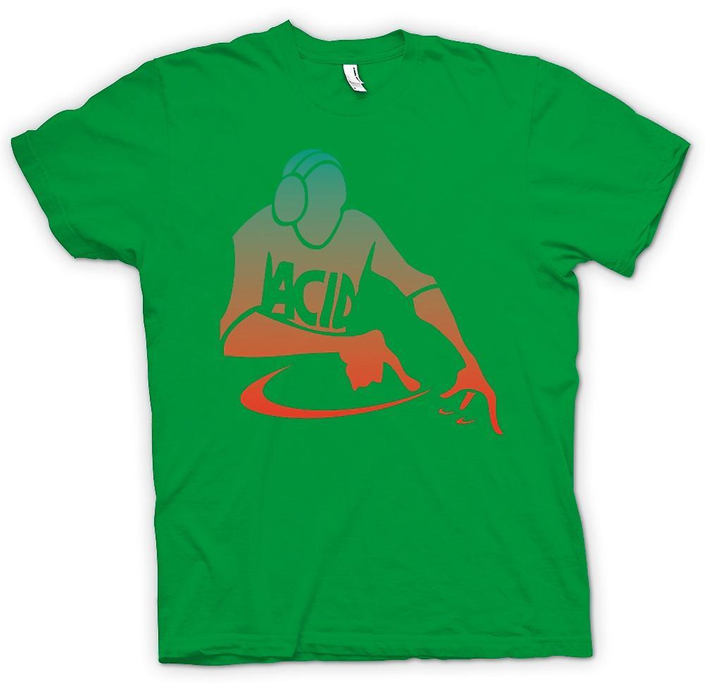 Camiseta para hombre - DJ mezclar - ácido