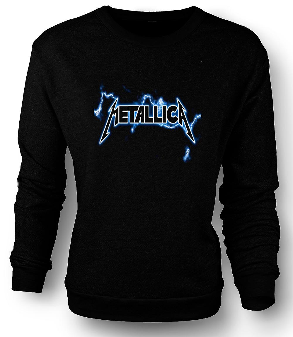Mens Sweatshirt Metallica Logo - Rock Metal