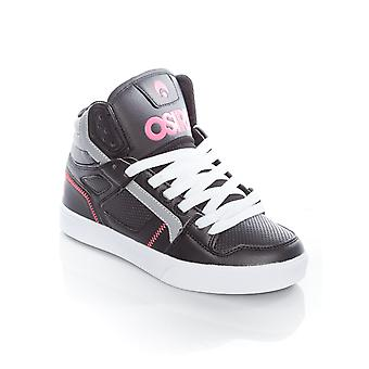 Osiris Black-Pink-White Clone Womens Hi Top Shoe