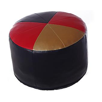 Seat cushion seat stool around Germany art leather black-red-gold 50 x 50 x 34 cm
