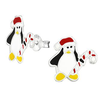 Penguin - 925 Sterling Silver Colourful Ear Studs - W9904X